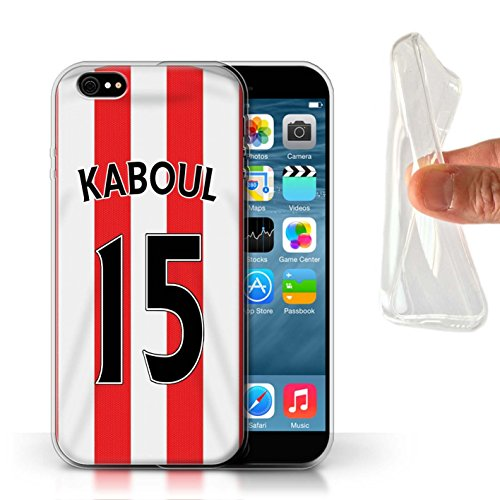 Offiziell Sunderland AFC Hülle / Gel TPU Case für Apple iPhone 6 / Pack 24pcs Muster / SAFC Trikot Home 15/16 Kollektion Kaboul