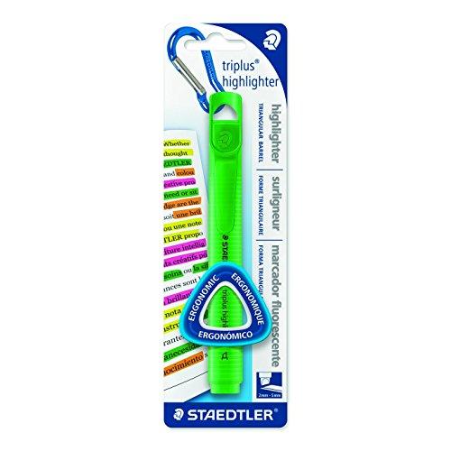 Triplus 3654-5 BK Silc Stationery-Evidenziatori con punta a scalpello, colore: verde
