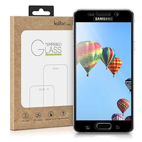 kalibri-Echtglas-Displayschutz-fr-Samsung-Galaxy-A3-Version-2016-3D-Schutzglas-Full-Cover-Screen-Protector-mit-Rahmen-in-Schwarz