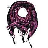Superfreak® Palituch Grundfarbe schwarz°PLO Schal°100x100 cm°Pali Palästinenser Arafat Tuch°100% Baumwolle, Farbe: schwarz/pink