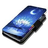 Book Style Flip Handy Tasche Case Schutz Hülle Schale Motiv Etui für Huawei Ascend P7 Mini - A42 Design7