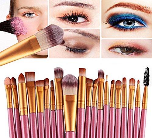 Demarkt 20PCS Set Pinceaux de Maquillage Fondation Outils Ombre à Paupières Eyeliner Lip Sourcils Pinceau Maquillage