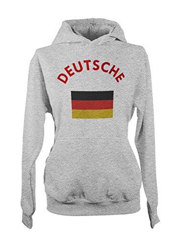 Deutsche Deutschland Germany German Flag Femme Capuche Sweatshirt Gris