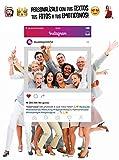 MundoPrint Marco photocall Instagram Personalizado 90x120cm. Regalo Original Ideal para Bodas, cumpleaños, comuniones, Despedidas Soltero/a....