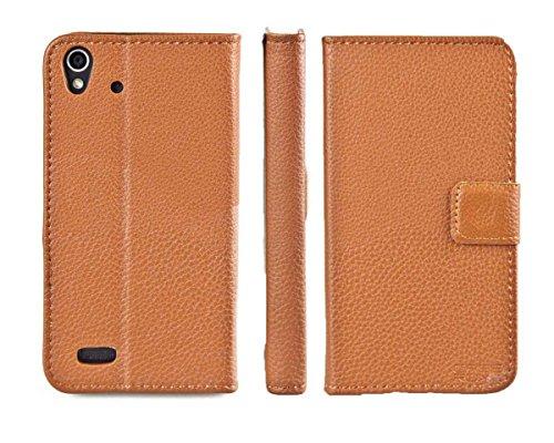 caseroxx Hülle/Tasche Bookstyle-Case Medion Life X5001 MD98499 Handy-Tasche, Wallet-Case Klapptasche in braun
