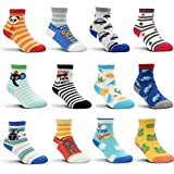 12-36 Months Non Skid Toddler Boy Girl Socks 12 Pairs Infant Baby Grips Socks for 1-3 Years OR 3-5 Years