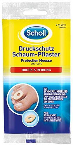 Scholl Druckschutz Schaum Pflaster, 3er Pack (3 x 9 Stück) -