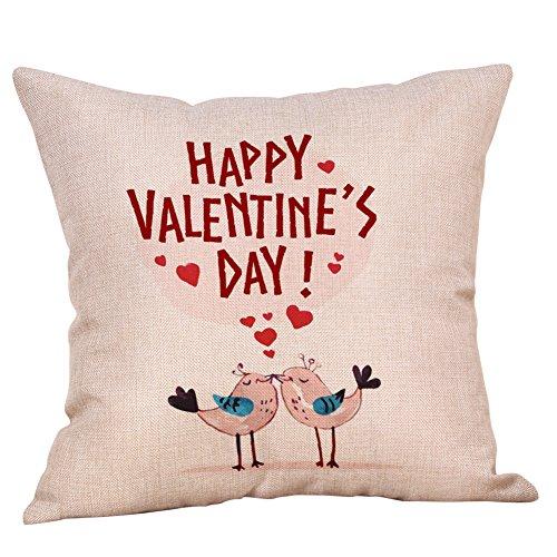 MOIKA Glücklicher Valentinstag WurfKissenbezug 45x45cm Sweet Love Quadrat Kissenbezug 45x45cm (ohne Kissen)