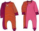 Baby Butt Schlafanzug 2er-Pack Frottee orange/pink/Beere Größe 74/80