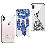 3x Coques,Yokata Coque iPhone X Etui iPhone 10 Silicone Souple Étui Transparent Swag...