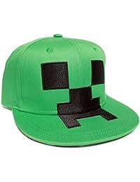 Minecraft Snapback Cap Creeper Basecap cotton green