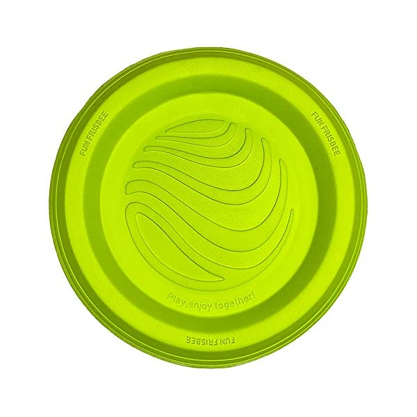 LaRoo Dog Flying Disc Dog Frisbee ABS Material Floatable Dog Toys Pet Frisbee for Puppies, Small, Medium and Large Dogs 1