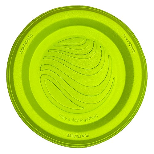 Hundespielzeug, LaRoo™ Hunde Flying Disc Hunde Frisbee ABS Material Floatable Hundespielzeug Pet Frisbee Tossing Toys für Welpen, Kleine, Mittlere und Große Hunde - Zitrone - Extra Frisbee Große