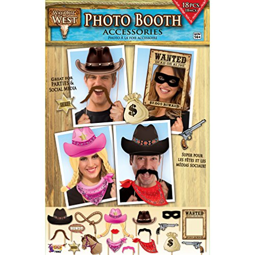 Forum Novelties x75902 Way Out West Foto Booth, mehrfarbig, one size (Photo Booth-cowboy)