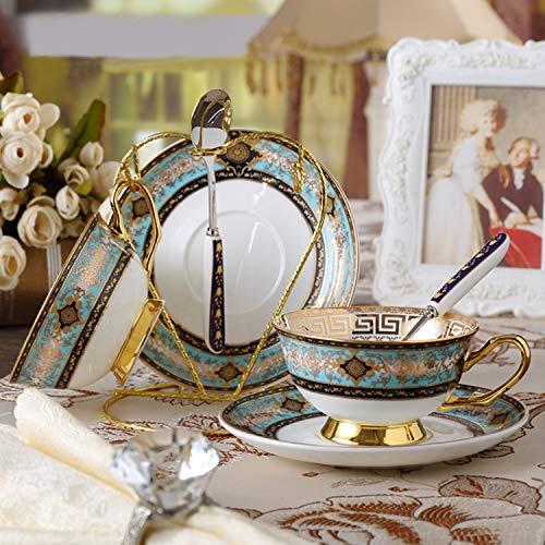 YUNDING Kaffeeset Aus Keramik 7-teiliges Set, Handbemaltes, Hochwertig Lackiertes Gold-Teeservice, Senden Sie Regale, Geschenke, Home Collection, Café