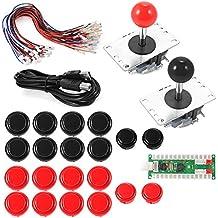XCSOURCE® 2 Jugadores Zero Delay Arcade Juego USB Encoder PC joystick DIY Kit para Mame Jamma y otros juegos de lucha AC608
