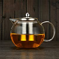 Artlass Clear High Borosilicate Glass Teapot With Stainless Steel Infusion 650ml