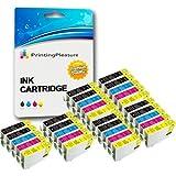 30 (6 SETS + 6 BLACK) Compatible Epson 16XL Ink Cartridges for Workforce WF-2010W WF-2510WF WF-2520NF WF-2530WF WF-2540W WF-2630WF WF-2650DWF WF-2660DWF - Black/Cyan/Magenta/Yellow, High Capacity