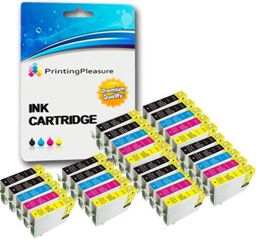 30 Compatibili 16XL Cartucce d'inchiostro per Epson Workforce WF-2010W WF-2510WF WF-2520NF WF-2530WF WF-2540WF WF-2630WF WF-2650DWF WF-2660DWF WF-2750DWF - Nero/Ciano/Magenta/Giallo, Alta Capacità