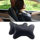 Hihey Cuscino per auto Cuscino per collo in pelle PU per seggiolino auto Cuscino per poggiatesta Cuscino per collo auto 25x17cm