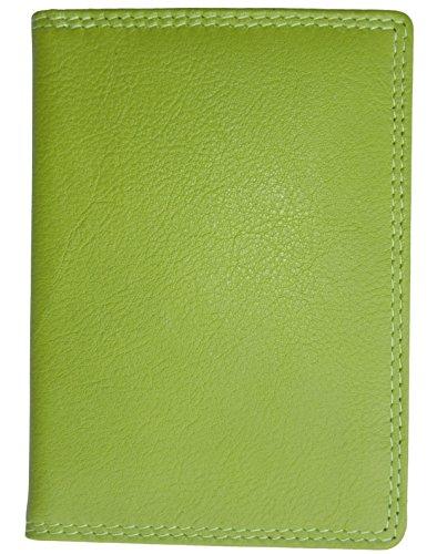 Josephine Osthoff Handtaschen-Manufaktur Leder EC-Karten-+ Ausweisetui Limone mit RFID-Schutz Doppelnaht auch Behindertenausweis flach