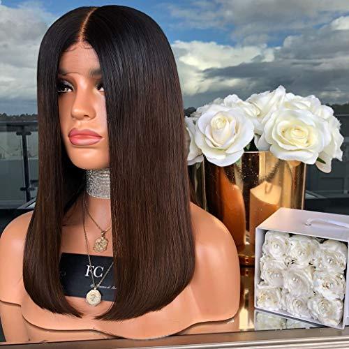 Beauty lockige Welle Perücken 130% Dichte Natürlicher Haaransatz Brasilianische Jungfrau für Schwarze Frauen mit verstellbaren Trägern,K