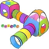 NUBUNI 4 en 1 Tienda Campaña Infantil : 2 Casitas Tela + 2 Tunel de...