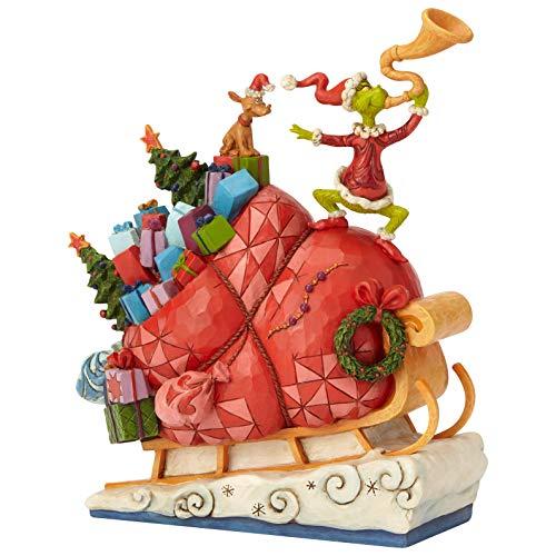 ENESCO Dr. Seuss The Grinch by Jim Shore Schlittenfigur, 24,1 cm, Mehrfarbig -