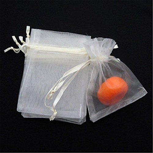 50pcs Light Beige Organza dei monili sacchetto del regalo sacchetti 7x9cm