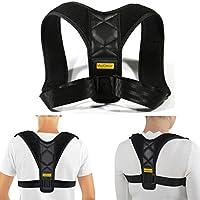 MojiDecor Correttore Postura Schiena Regolabile Fascia Spalla per Postura Corretta Unisex Supporto Tutore Mantiene Schiena Dritta