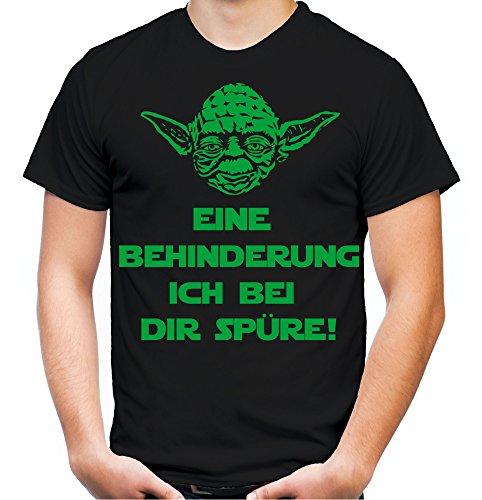 Yoda Spruch T-Shirt | Star Wars | lustige | Darth | Zitate | Sith | Vader | Männer | Herren | Fun | Kult | Film | Eine Behinderung Schwarz