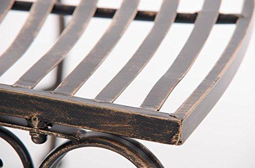 CLP Metall Eckbank / Gartenbank LORENA, Baumbank Design nostalgisch antik, Eisen lackiert, ca. 140 x 60 cm Bronze - 9