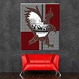 XIANRENGE Nordic Print Poster Malerei Tier Vogel Und Giraffe Moderne Abstrakte Leinwand Kunst Bilder Für Wohnzimmer Wohnkultur 40×60Cm