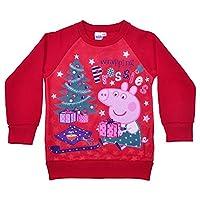 Children's Boys Girls Peppa Pig Character Festive Christmas Jumper -2-3 Years