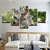 kuanmais Koala Climb On Stick Albero Wall Art Pittura Immagini Stampa su Tela Animale L'Immagine per...