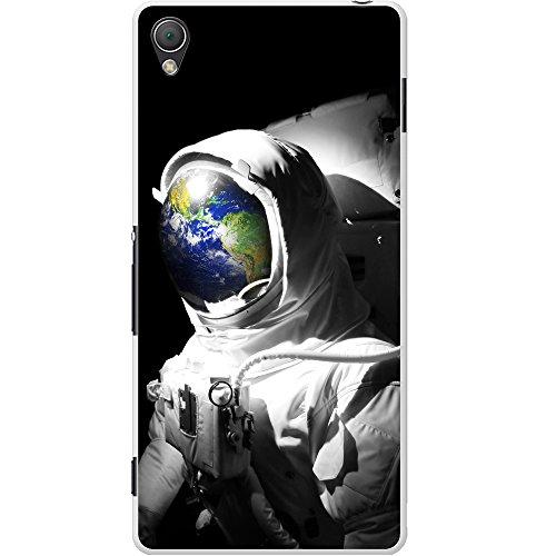 Astronautenanzug & Spiegelbild der Erde Hartschalenhülle Telefonhülle zum Aufstecken für Sony Xperia Z3 Plus