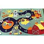 Non Slip Kids Numbers Playmat/Rug 80cm x 120cm