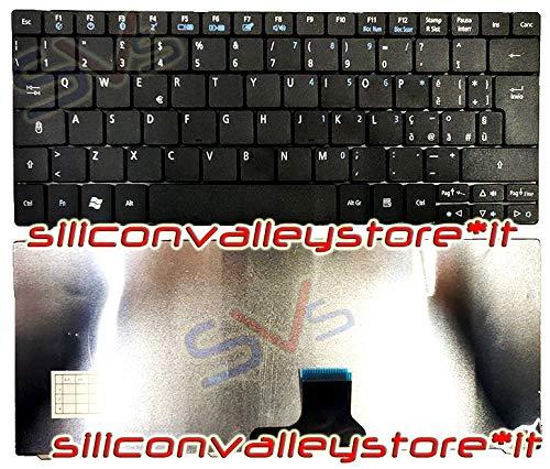 Siliconvalleystore Tastiera Italiana per Notebook Keyboard Acer Aspire One A0751H-52Bw ZA3 Nera