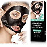 Blackhead Mask,MML 1Beauty Activated Natural Charcoal Black Mask Blackhead Peel Off Remover Cream Deep Skin Clean Purifying Peel Acne Mud Nose and Face Mask