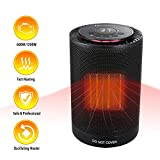 MARNUR Space Heater Electric - Oscillating Ceramic Heater with Adjustable Thermostat and 3