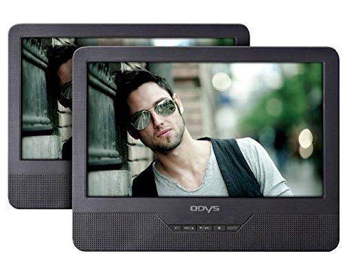 layer mit zusätzlichem Bildschirm 23 cm (9 Zoll) (hochauflösendes digitales TFT-Display (800x480 Pixel), USB, SD-Card) schwarz (Portable Dvd Player)