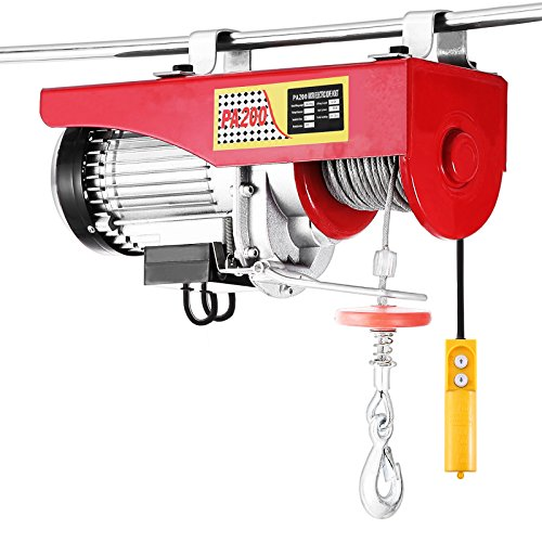 OrangeA Elektrische Seilwinde 200KG Seilhebezug Elektrisch 220V Elektrischer Seilhebezug Flaschenzug Motorwinde TragfäHigkeit Mit Kabel-Fernbedienung (200kg) (Remote Control Crane)