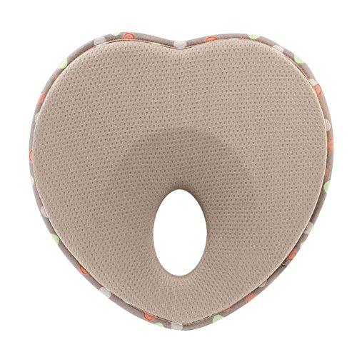 EQLEF® Infantil suave previene la cabeza plana de soporte de Apple Shape Memory Foam Almohada bebé