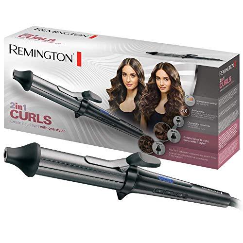 Remington 2in1 Curls CI67E1 Rizador de Pelo, Cerámica, Turmalina Iónica, Antiestático, Punta Fría...