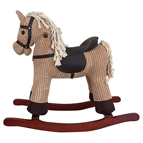 Sweety-Toys 6816 LOOPIE Schaukelpferd beige/khaki super- süß, sehr edel CORD COTTON (Khaki Cord)