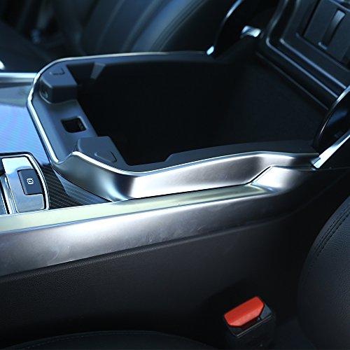 Blende für Mittelkonsole, ABS-Kunststoff, silberfarben, matt, für Armlehnen-Box, Rahmen, Besatz für Landrover (Kompatibilität mit Linkslenker-Fahrzeug nicht garantiert) (2014 Range Rover Auto)