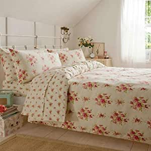Catherine Lansfield Madelaine King Size Quiltset, Pink
