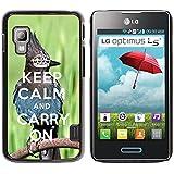 Print Motif Coque de protection Case Cover // Q01014393 keep calm and carry on 682 // LG Optimus L5 II Dual E455 / E460
