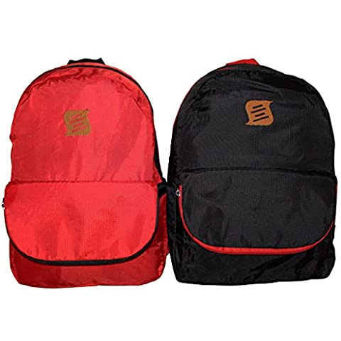 KurtzyTM 2-Pack 25L Ultra Lightweight Packable Folding Backpack Daypack Rucksack Set