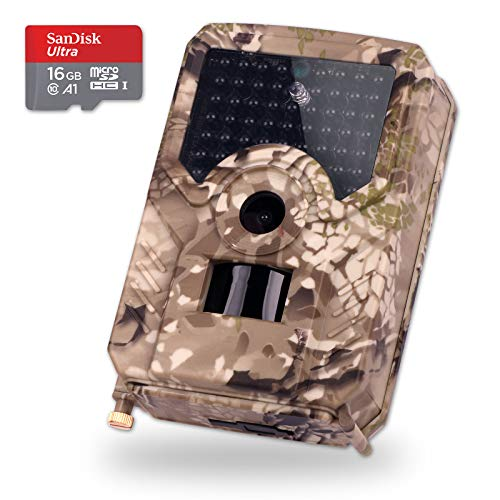 Trunite Wildlife Scout Kamera, Trail Jagd, Game Cam Security Low Glow LED 1080 P Wireless Infrarot IR 12 MP 18650 Lithium Batterie Netzteil ABS Kunststoff 12 S-video